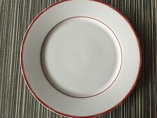 "Ralph Lauren  Set of 10  RED PAGODA DINNER PLATES 10"" Red & White Bamboo-  RARE"