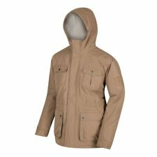 Regatta Penley Waterproof Padded Jacket Insulated Hoodie Dark Camel