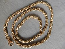 COLLIER RAS DE COU CHAINE CORDE TORSADEE BICOLORE ACIER PLAQUE OR CHAIN NECKLACE