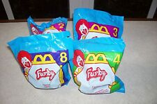 Lot of 4 FURBY McDonalds Promo Kids Meal Toys - NEW IN PACKS
