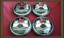 4pcs. VW Volkswagen Wolfsburg Red Wolf Wheel Center Caps 65mm 3B7 601 171