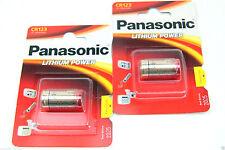 2 x Panasonic cr123a batería de litio-la batería para cámaras linternas