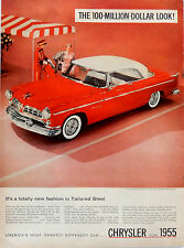 Vintage 1955 Chrysler car Windsor Deluxe Nassau Tango Red advertisement print ad