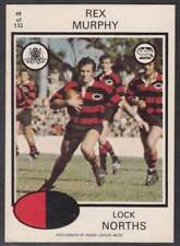1975 SCANLENS NORTHS REX MURPHHY No.49 WHITE BACK