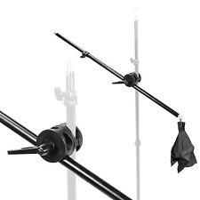 Studio Boom Arm 140cm Telescopic Extension Light Stand Grip Softbox Photography
