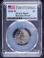 2020 W Jefferson Nickel 5C Reverse PR69 PCGS First Strike