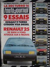 revue 1984 RENAULT 25 + 11 TURBO / CITROEN CX GTi / 505 GTi  / AUTO-JOURNAL