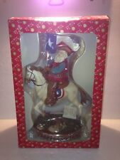 Dillard's Trimmings Santa On Horse Holding Texas Flag Tabletop Figure Rare Find