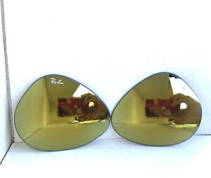 Replacement Lenses Brown Mirror Gold for Aviator RAY BAN RB3025 58mm Authentic