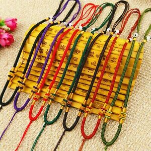 10 Chinese Silk Thread Knotted Cord Adjustable String Necklace for Jade Pendants
