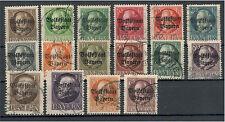 Baviera 116 a, - 129 a, 134 a, 135 a con sello me 51,2 (722006)