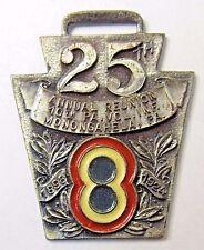 1924 Spanish War Veterans 10th Penna. Vol reunion Mononghahela watch fob medal +