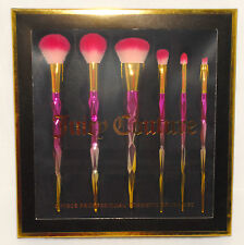 JUICY COUTURE - 6 pc - COSMETIC Makeup Pink & Gold Textured BRUSH SET *NEW