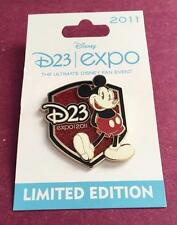 Disney D23 Expo 2011 Classic Pie Eyed Mickey Mouse Sparkle Glitter Le 3000 Pin