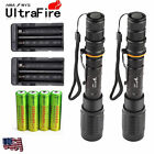 2 x Ultrafire 8000Lumen Tactical T6 LED Flashlight Torch+18650 Battery + Charger