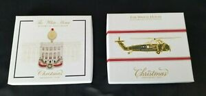 White House Historical Association Christmas Ornaments 2018 & 2019 New in Boxes