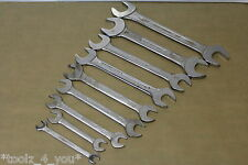 """Mixed Brands 5/16"""" to 1 3/16"""" AF Run of Open Ended Spanners New Old Stock"""