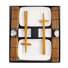 Blanc Sushi Set Vaisselle Service Ensemble de 10 pièces Pour 2 Personnes