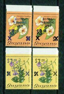 GUYANA  - 1981   – FLOWERS (OVPTS)  – VF  **