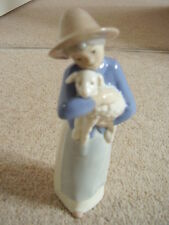 LLadro type, Valencia ,Spain Porcelain Lady with a sheep ornament-figure