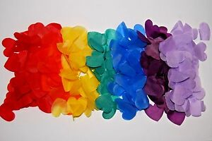 GAY PRIDE - Civil partnerships - Births - Biodegradable Rainbow  Heart Confetti
