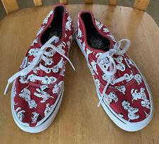 Vans Disney 101 Dalmatians Shoes Red White Black Women's 7.0 Men's 5.5 Flaws GUC