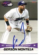 Gerson Montilla 2016 Winston-Salem Dash Signed Card