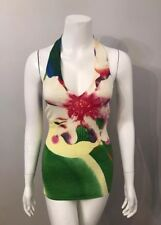 Stunning Arden B. Pink Green Floral Halter Sweater Size S
