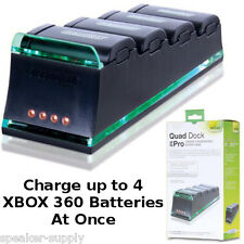 Dream Gear Quad Dock Pro for Xbox 360 4 Battery Charger Charging Dock DG360-1710