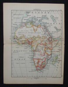 Antique Map: Africa by John Bartholomew, Pocket Atlas of the World, 1890