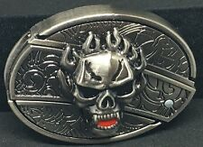 Skull Belt Buckle with Slide Out Knife, Very Unique item. Style A