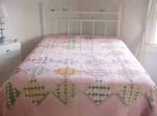 Antique 1900s Pa Hand Stitched Cutter Quilt 86x72
