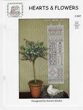 Rosewood Manor -Hearts & Flowers C-007-CrossStitch Pattern Karen Kluba -New