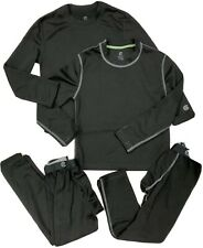 Lot 2 Boys C9 Champion Black 2pc Base Layer Top & Pant Underwear Sets Size S Euc