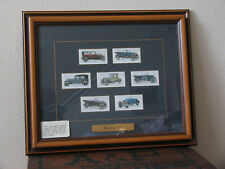 TWO FRAMED SETS ORIGINAL ENGLISH CIGARETTE CARDS: CYCLING 1939, MOTOR CARS 1923