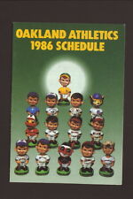 Oakland Athletics--1986 Pocket Schedule--Harry's Bar & Grill--Bobbleheads