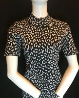 BNWT MICHAEL KORS Women's Black & Silver Lurex Animal Top Size XL RRP £149