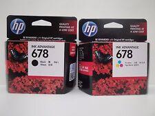 Genuine HP 678 Standard Yield Black/Tri-Color Ink Cartridges New In Box