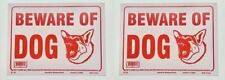 "2 Sets Of ""Beware Of Dog� Signs, Usa Seller, Free S&H!"