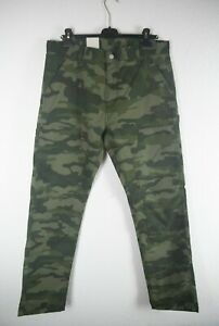 Carhartt WIP RUCK DOUBLE KNEE PANT Patterson Camo Mono Blackforest W34 L32