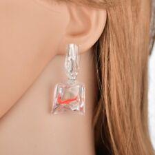 Women Funny Goldfish Water Bag Shape Dangle Hook Earrings Charm Jewelry Gift
