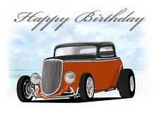 1934 3 FORD finestra Hot Rod 34 COUPE compleanno auguri carta