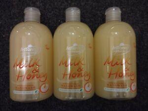 3 X Astonish Milk and Honey Antibacterial Handwash 3 X 500ml Vegan friendly.