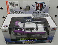 1955 DODGE BOYS ROYAL LANCER PURPLE WHITE FORWARD LOOK 14 59 MOPAR M2