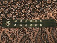Porte encens artisanat indien vert avec décoration
