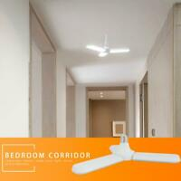 Home E27 45W 180LED Folding Garage Light 85-265V Constant Current Light Bulbs