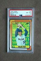 1990 Topps Baseball Nolan Ryan 5000 Card #2 PSA Graded 8 NM~MT
