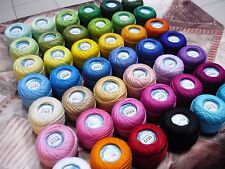 100% Mercerized Cotton Yarn Assorted Colors Huge Lot Mixed 42skn 420gr 3990yds