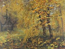 "20"" PRINT Golden Autumn by Ostroukhov ANTIQUE MUSEUM ART - FOREST VIEW"