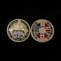 2nd World War Challenge Coin D-Day Normandy Commemorative Collectible Emblem